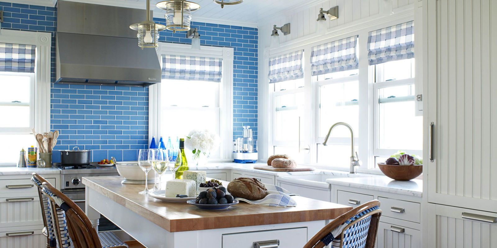 Attractive Blue Kitchen