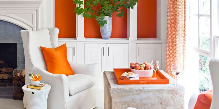 This Expansive Atlanta House Then Added Orange Accents And Bursts Of Color Throughout Each Room For More Decorating Ideas Read An Interview With The