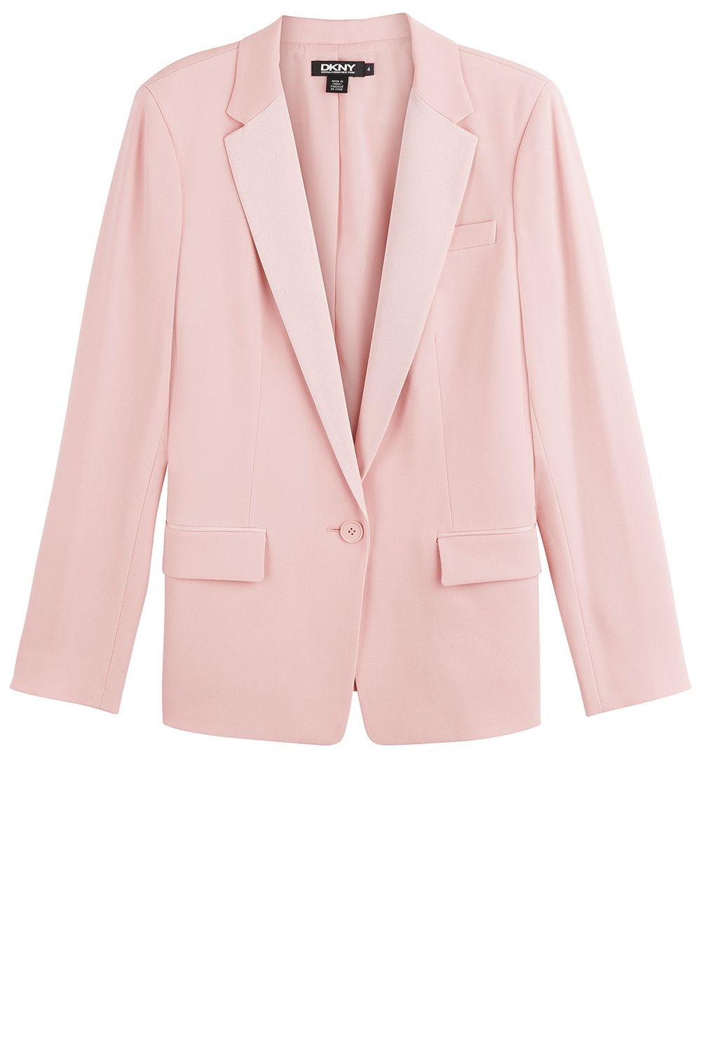 "<strong>DKNY</strong> blazer, $445, <a href=""http://www.stylebop.com/product_details.php?menu1=clothing&menu2=6&id=594232"">stylebop.com</a>."