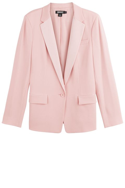 "<strong>DKNY</strong> blazer, $445, <a href=""http://www.stylebop.com/product_details.php?menu1=clothing&amp;menu2=6&amp;id=594232"">stylebop.com</a>."