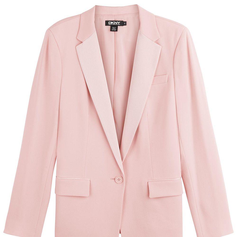 "<strong>DKNY</strong> blazer, $445, <a href=""http://www.stylebop.com/product_details.php?menu1=clothing&amp&#x3B;menu2=6&amp&#x3B;id=594232"">stylebop.com</a>."