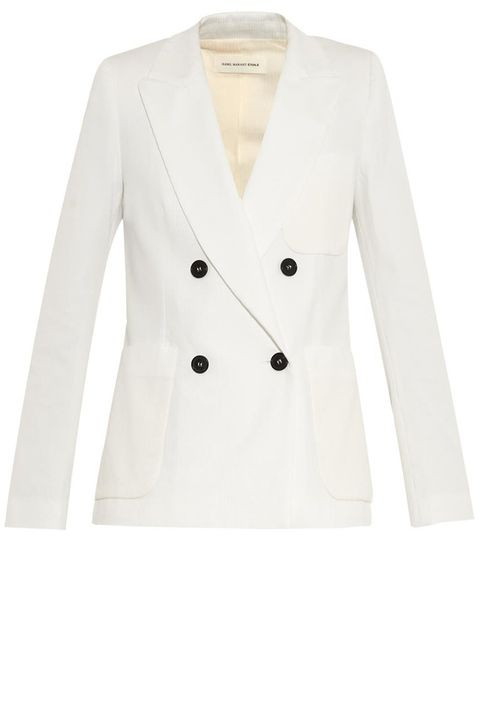 "<strong>Etoile Isabel Marant </strong>blazer, $620, <a href=""http://www.matchesfashion.com/product/1001737"">matchesfashion.com</a>."
