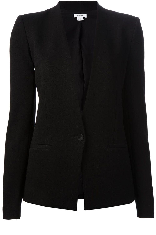 """<strong>Helmut Lang</strong> blazer, $776,<a href=""""http://www.farfetch.com/shopping/women/helmut-lang-grist-blazer-item-10876378.aspx?storeid=9363&ffref=lp_7_""""> farfetch.com</a>."""