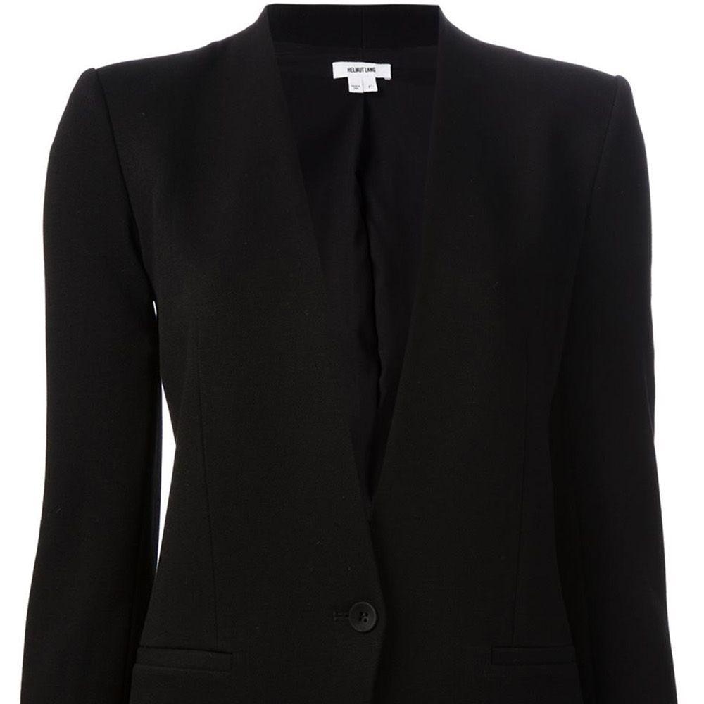 """<strong>Helmut Lang</strong> blazer, $776,<a href=""""http://www.farfetch.com/shopping/women/helmut-lang-grist-blazer-item-10876378.aspx?storeid=9363&amp&#x3B;ffref=lp_7_""""> farfetch.com</a>."""
