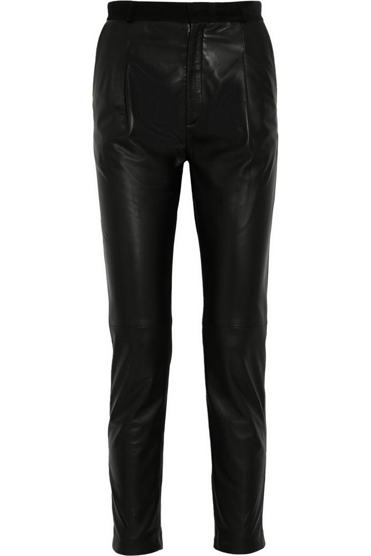 "<strong>Joseph</strong> pants, $1,475, <a href=""http://www.net-a-porter.com/product/505822/Joseph/tessa-leather-tapered-pants"">net-a-porter.com</a>."