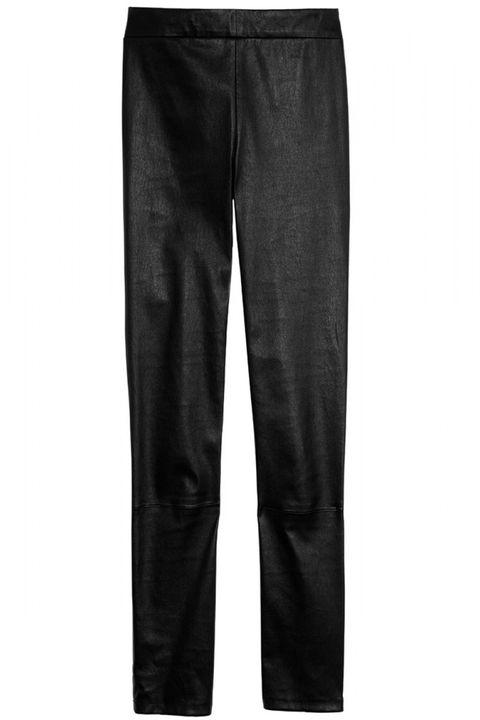 "<strong>Vince </strong>leggings, $1,250, <a href=""http://shop.harpersbazaar.com/designers/vince/ankle-zip-leather-leggings/"">shopBAZAAR.com</a>."