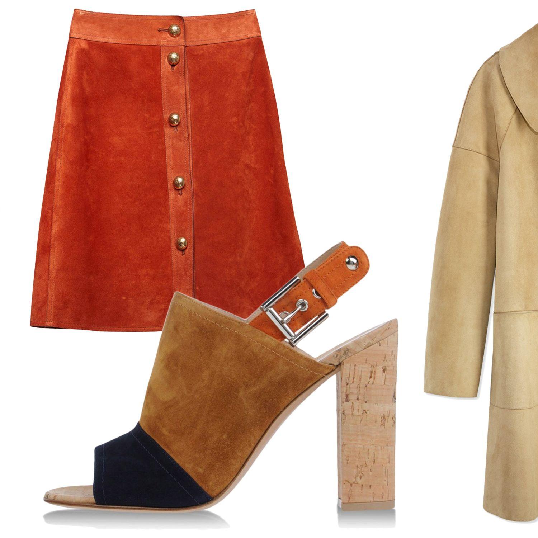 "Find the softer side of haute hides with rich, sumptuous suede.<em>Michael Kors coat, $6,995,&nbsp&#x3B;<a href=""http://shop.harpersbazaar.com/designers/michael-kors/suede-turn-lock-coat/"" target=""_blank"">shopBAZAAR.com</a>&#x3B; Gucci skirt, $1,990,&nbsp&#x3B;<a href=""http://shop.harpersbazaar.com/designers/gucci/suede-button-skirt/"" target=""_blank"">shopBAZAAR.com</a>&#x3B; Gianvito Rossi heel, $695,&nbsp&#x3B;<a href=""http://shop.harpersbazaar.com/designers/gianvito-rossi/color-block-suede-cork-slingback-sandal/"" target=""_blank"">shopBAZAAR.com</a>.</em>"