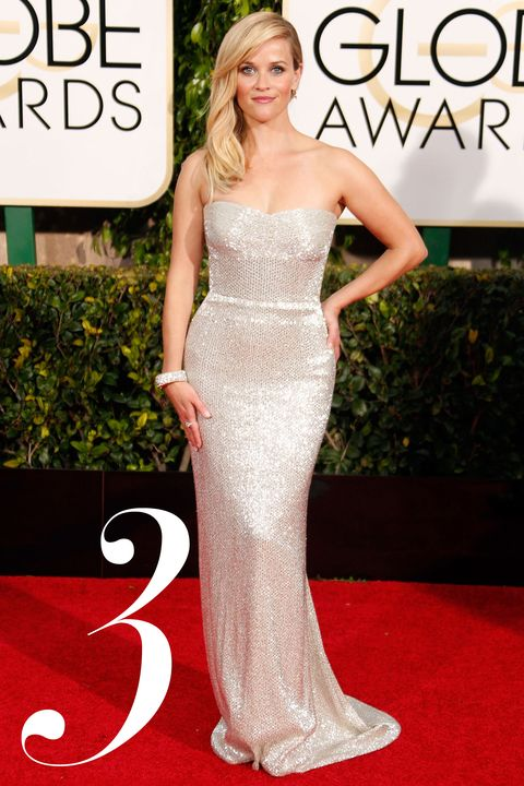The&nbsp;<em>Wild</em>&nbsp;nominee bucked all character in this uber-glam, curve-enhancing Calvin Klein Collection silver number, yet managed to look as effortless as she did sexy.