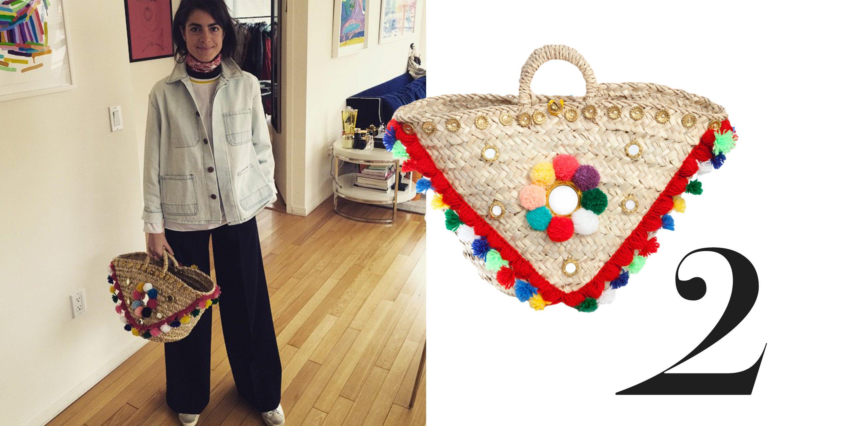 """<a href=""""http://instagram.com/manrepeller"""">@manrepeller</a>  <em>Muzungu Sisters bag, $310, <a href=""""http://shop.harpersbazaar.com/designers/muzungu-sisters/sicilian-basket-ii/"""">shopBAZAAR.com</a>.</em>"""