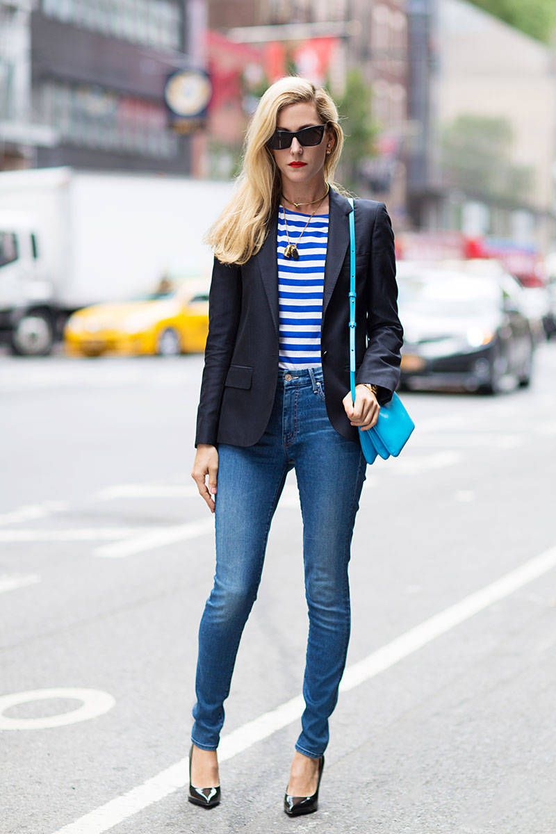 joanna hillman in breton stripes