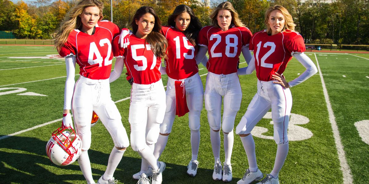 Watch the Victoria's Secret Angels Play Football