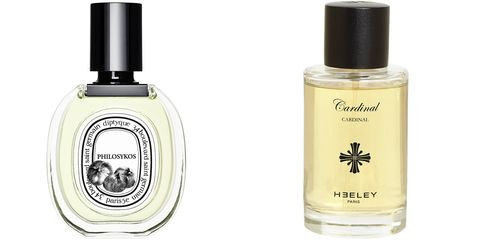 "<p>""I alternate between two fragrances depending on the season: Cardinal from Heely and Philosokos from Diptyque.  Cardinal is lighter for warmer months and Philosokos for the cold.""</p> <p><strong>Diptyque</strong> Philosykos, $125, <a href=""http://www.diptyqueparis.com/philosykos-edt.html"">diptyqueparis.com</a>; <strong>Heely</strong> Cardinal, $180, <a href=""http://www.luckyscent.com/product/31505/cardinal-by-heeley?utm_source=google-base&amp;utm_medium=cpc&amp;utm_campaign=google-base&amp;gclid=CK2IsMmiq8MCFcXm7AodzEsA-A"">luckyscent.com</a>.</p>"