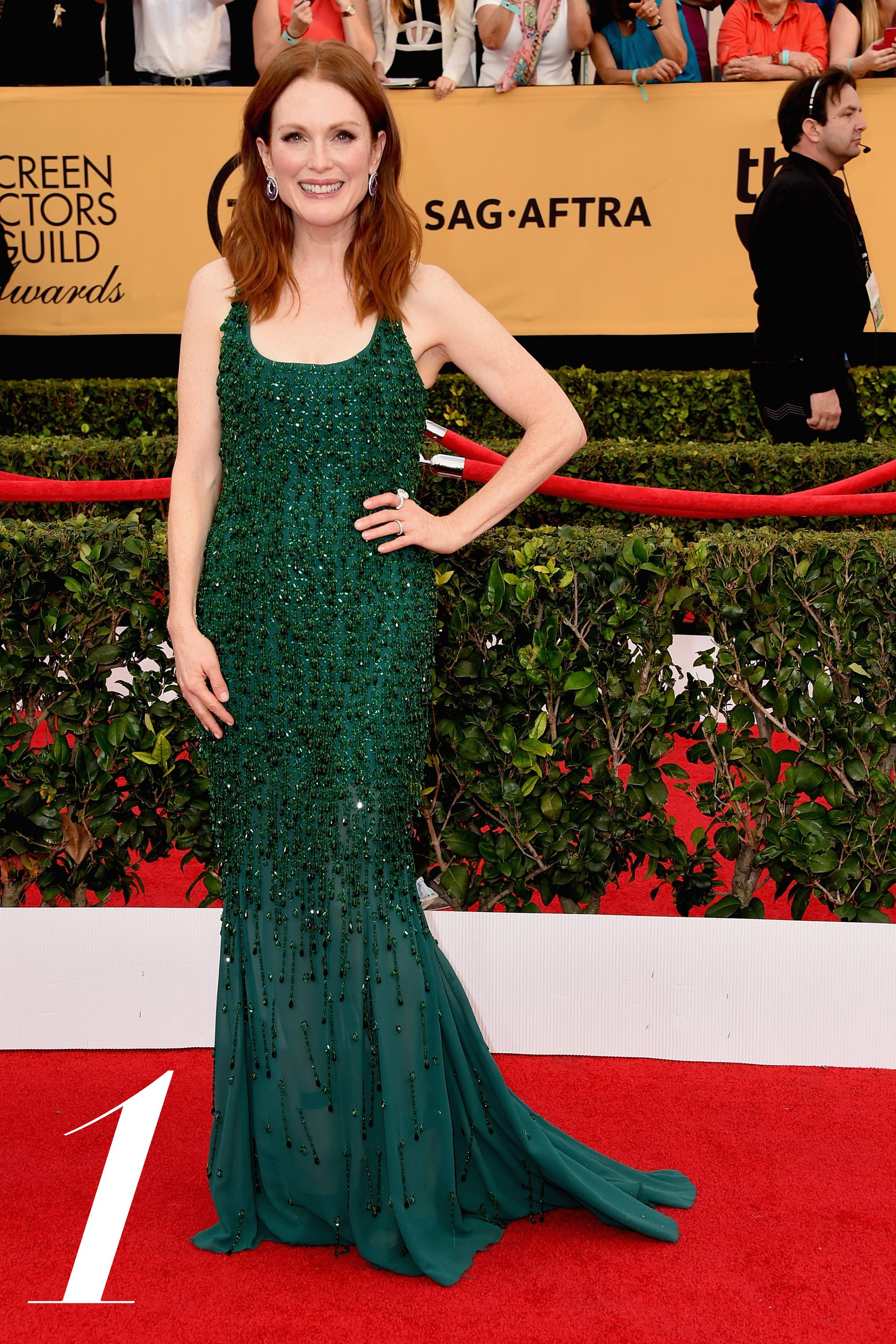 LOS ANGELES, CA - JANUARY 25:  Actress Julianne Moore attends the 21st Annual Screen Actors Guild Awards at The Shrine Auditorium on January 25, 2015 in Los Angeles, California.  (Photo by Steve Granitz/WireImage)
