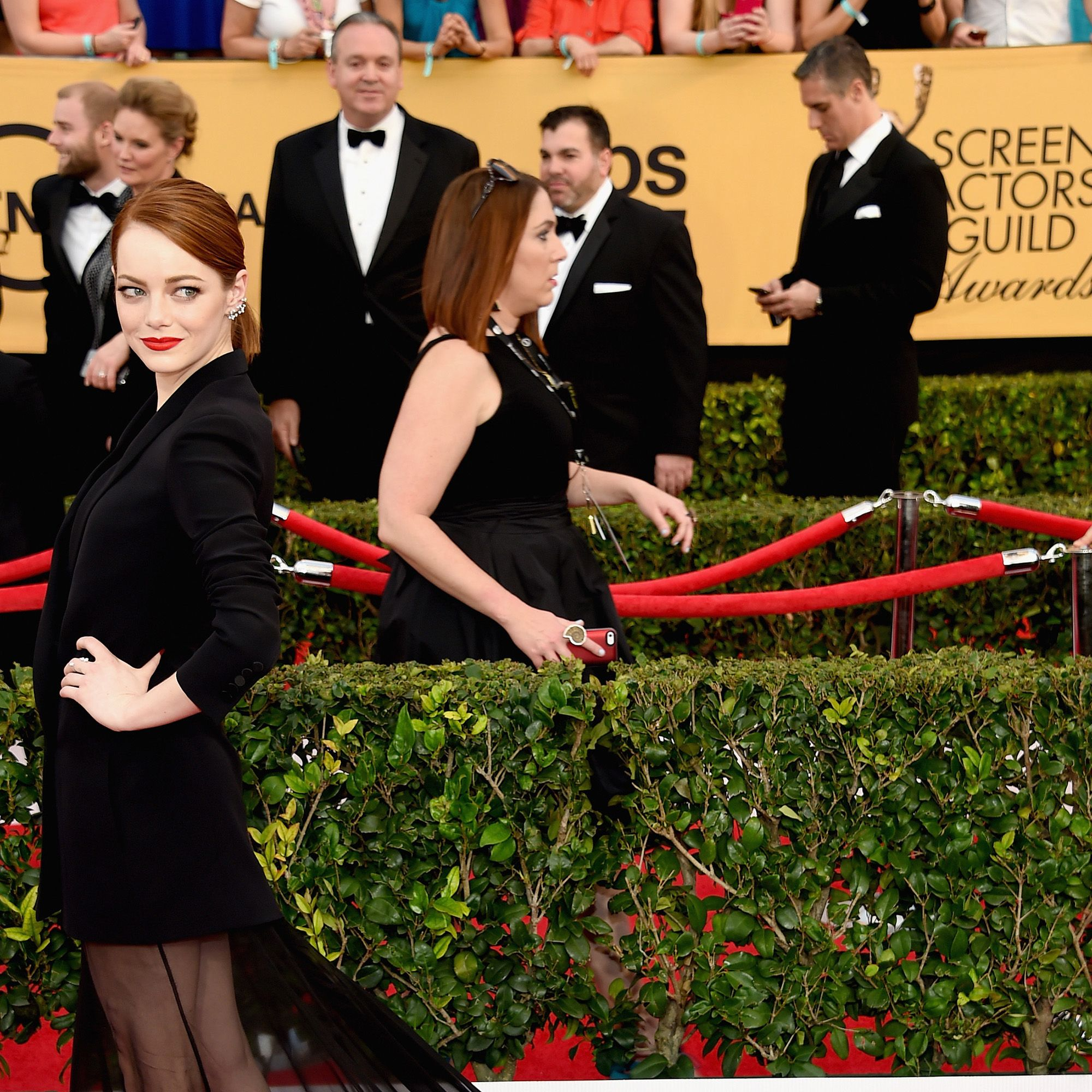 LOS ANGELES, CA - JANUARY 25:  Actress Emma Stone attends the 21st Annual Screen Actors Guild Awards at The Shrine Auditorium on January 25, 2015 in Los Angeles, California.  (Photo by Ethan Miller/Getty Images)
