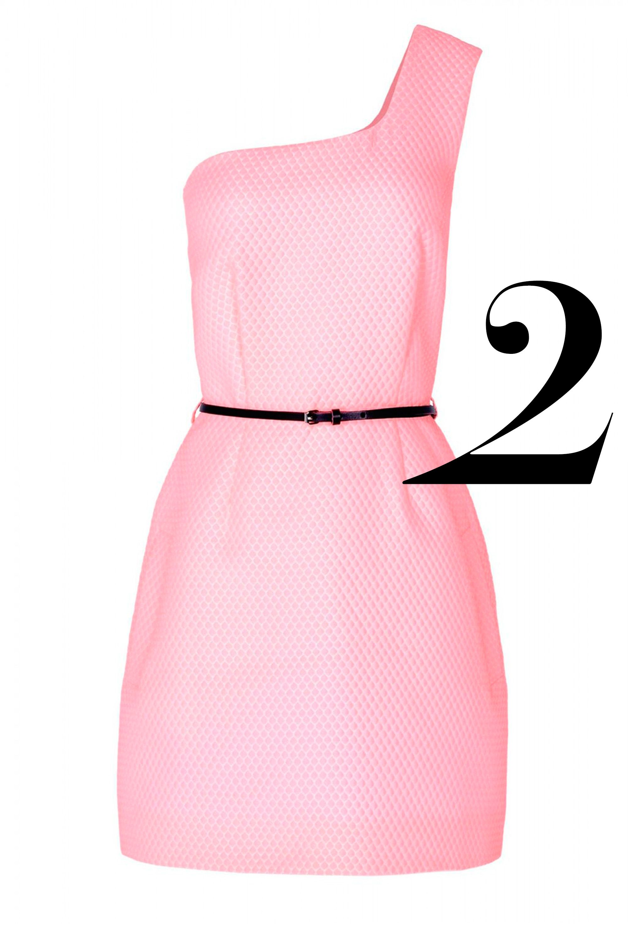 "<p><em>Victoria, Victoria Beckham dress, $860, <a href=""http://shop.harpersbazaar.com/clothing/dresses/pink-jacquard-one-shoulder-dress/"" target=""_blank"">shopBAZAAR.com</a>. </em></p>"
