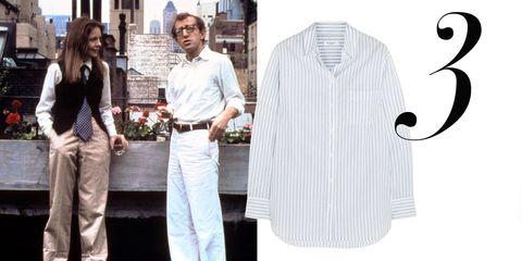Dress shirt, Collar, Sleeve, Trousers, Shirt, Standing, White, Fashion, Street fashion, Suit trousers,