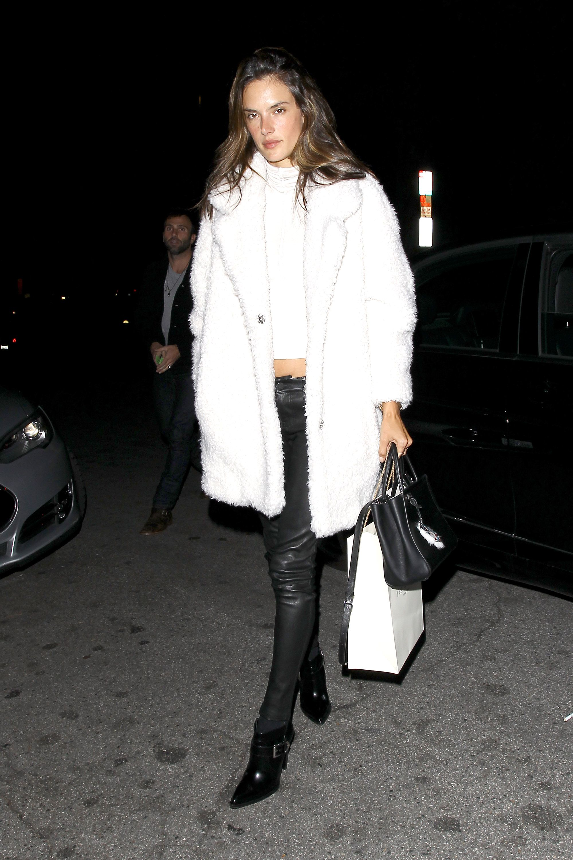 "**NO Australia, New Zealand** West Hollywood, CA - Alessandra Ambrosio and her boyfriend Jamie Mazur leaving ""Kings of Leon"" frontman Caleb Followill's star-studded birthday party celebrated at the ""Sunset Marquis"" hotel in West Hollywood. **NO Australia, New Zealand** 