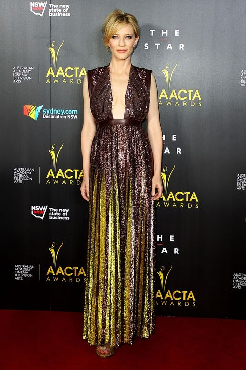 SYDNEY, AUSTRALIA - JANUARY 30:  Cate Blanchett arrives at the 3rd Annual AACTA Awards Ceremony at The Star on January 30, 2014 in Sydney, Australia.  (Photo by Lisa Maree Williams/Getty Images)