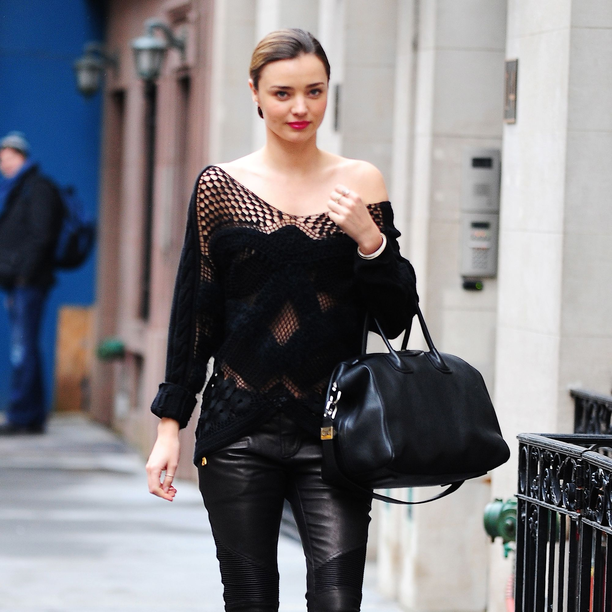 NEW YORK, NY - DECEMBER 19: Miranda Kerr is seen on December 19, 2013 in New York City. (Photo by Alo Ceballos/FilmMagic)