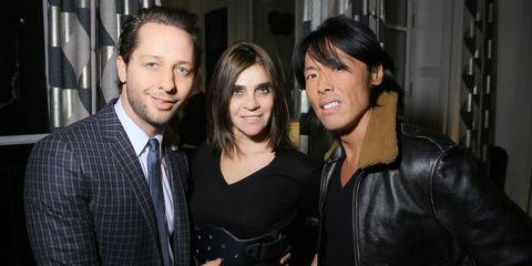 Derek Blasberg, Carine Roitfeld and Stephen GanParty for Dasha Zhukova' cover for Wall Street Journal on January 27, 2015 in Paris, France.