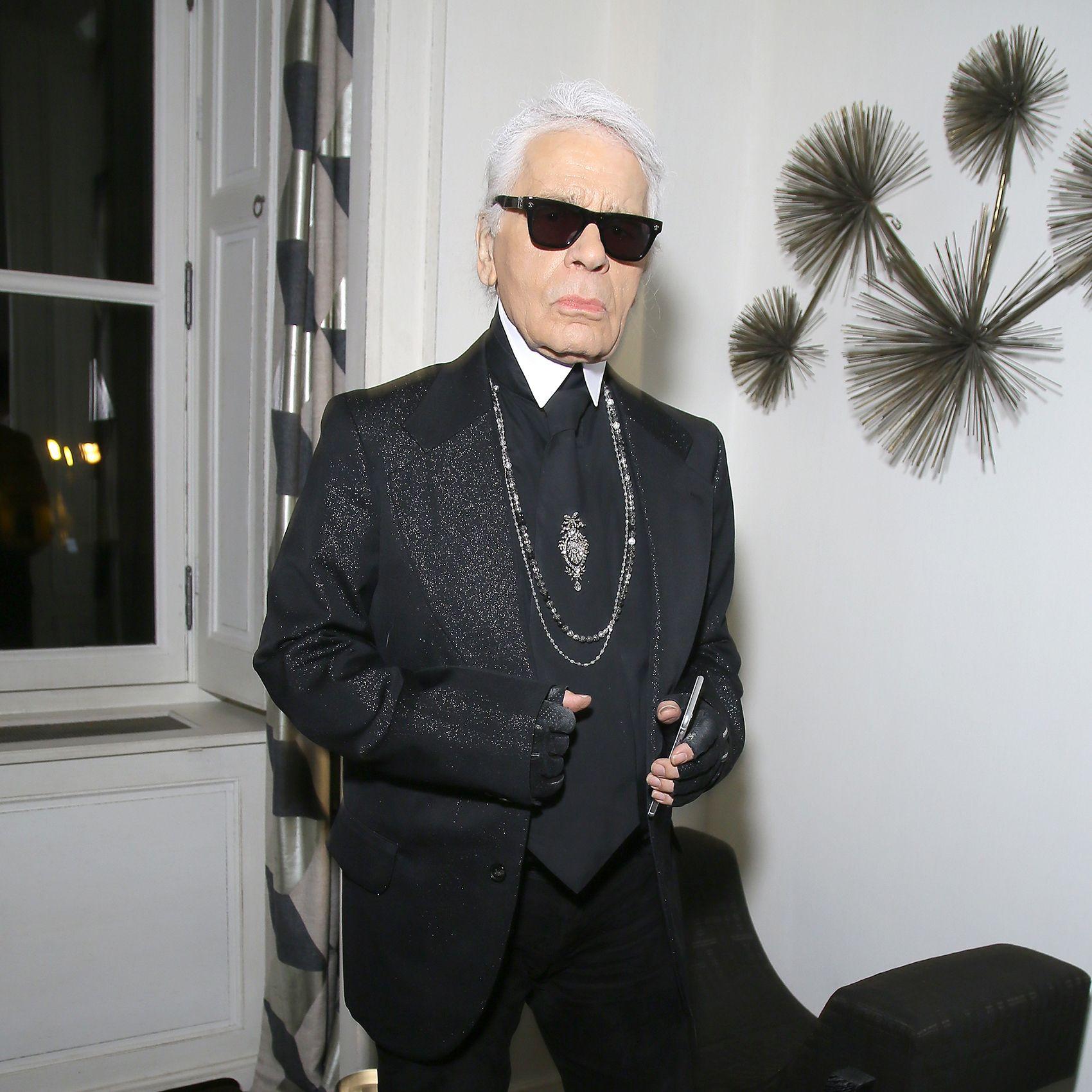 Karl Lagerfeld&#xA&#x3B;&#xA&#x3B;Party for Dasha Zhukova' cover for Wall Street Journal on January 27, 2015 in Paris, France.