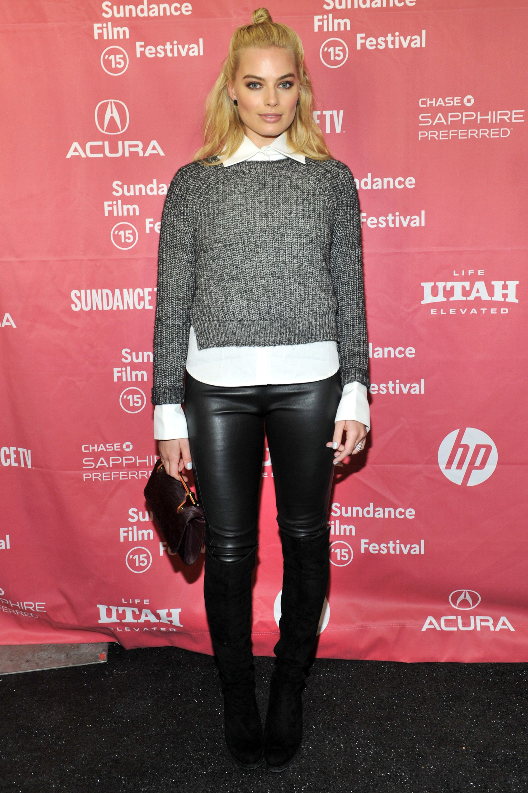 "PARK CITY, UT - JANUARY 24:  Actress Margot Robbie attends the ""Z for Zachariah"" Premiere during the 2015 Sundance Film Festival on January 24, 2015 in Park City, Utah.  (Photo by Sonia Recchia/Getty Images for Sundance)"