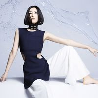 <em>Liu Wen in C</em>é<em>line</em><strong>Céline</strong> top and pants, price upon request, 212-535-3703.