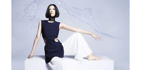 <em>Liu Wen in C</em>é<em>line</em><strong>Céline</strong> top and pants, price upon request, 212-535-3703.