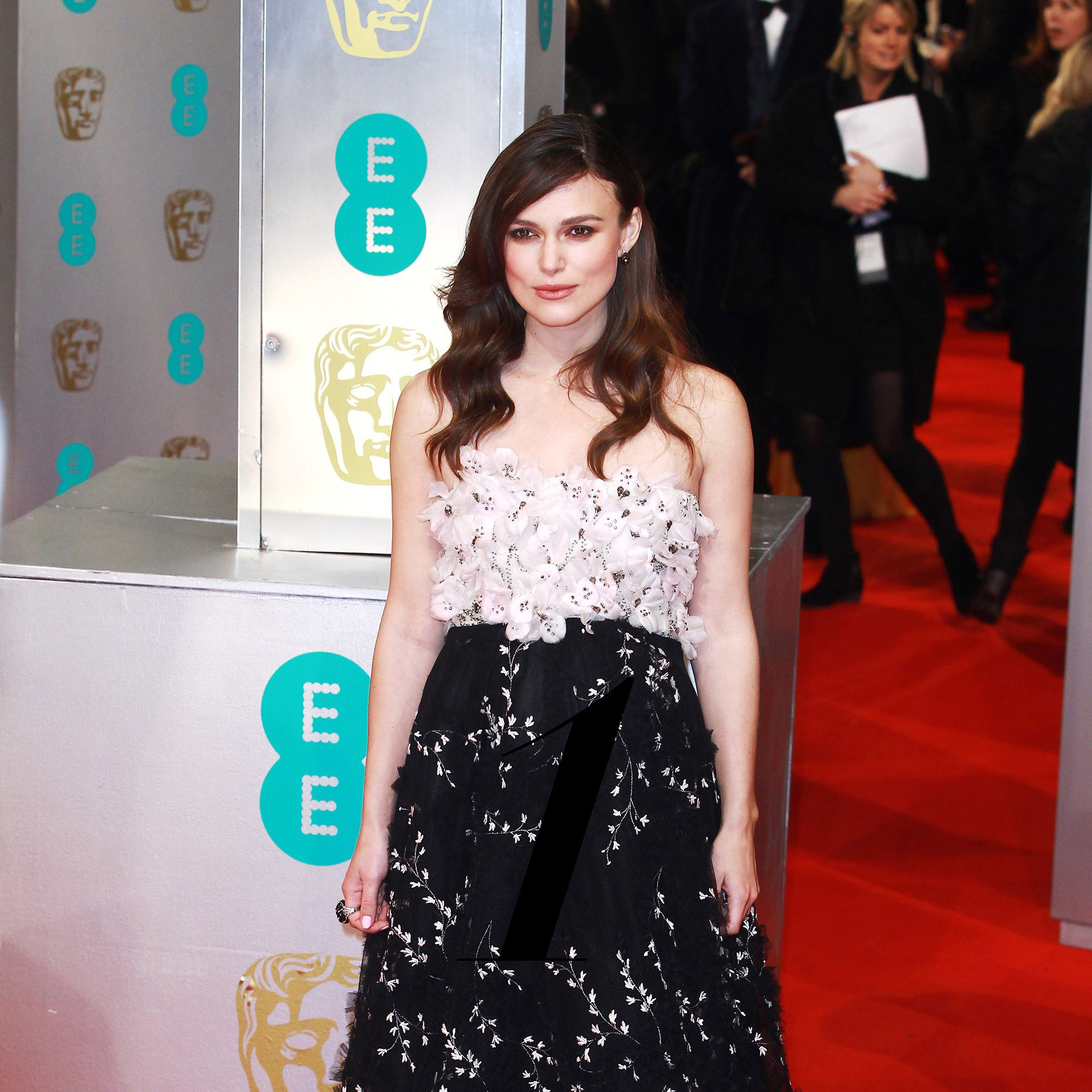 LONDON, UNITED KINGDOM - FEBRUARY 08: Keira Knightley attends the EE British Academy Film Awards  at The Royal Opera House on February 8, 2015 in London, England. (Photo by Fred Duval/FilmMagic)