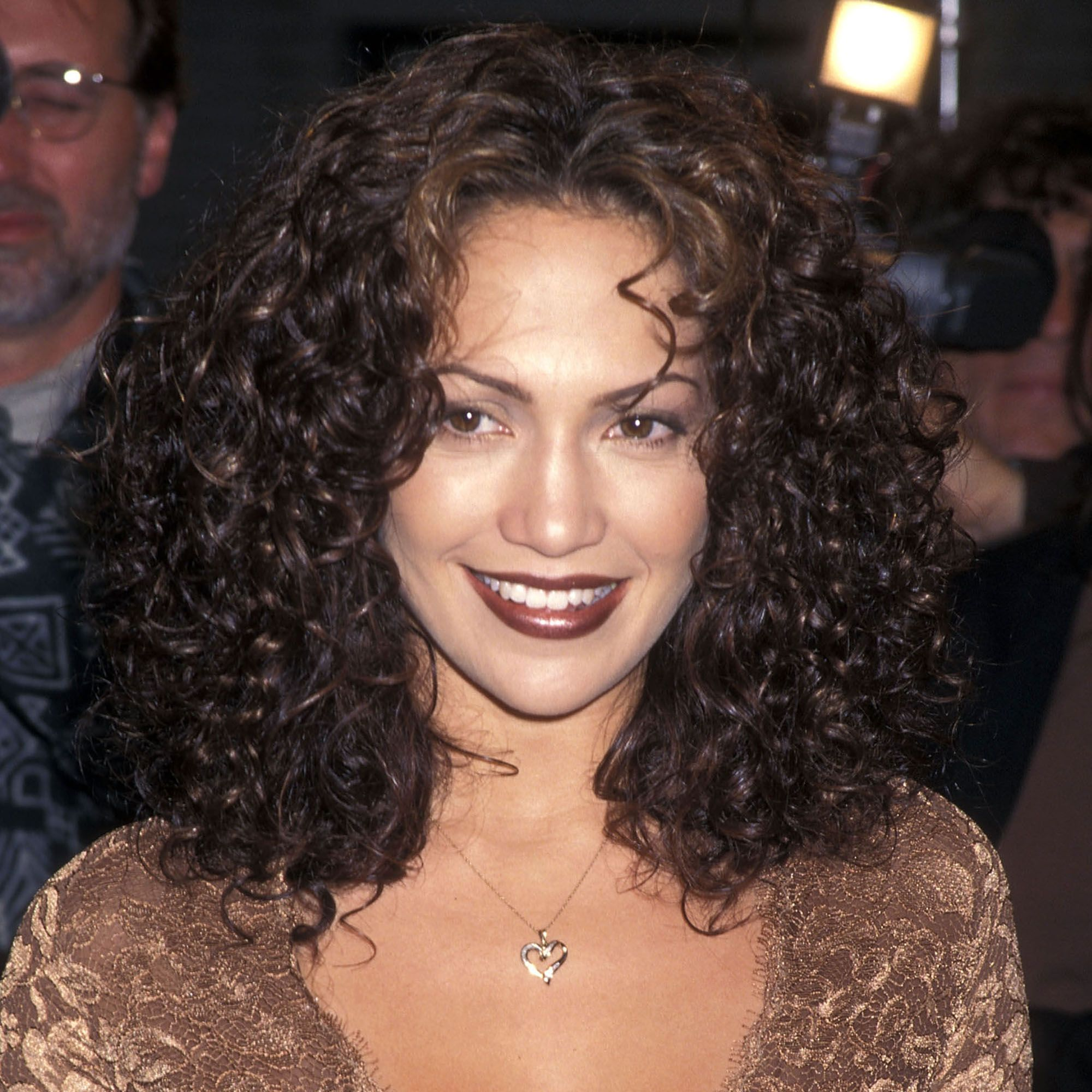 "WESTWOOD,CA - APRIL 7:   Actress Jennifer Lopez attends the ""Anaconda"" Westwood Premiere on April 7, 1997 at Mann Village Theatre in Westwood, California. (photo by Ron Galella, Ltd./WireImage)"