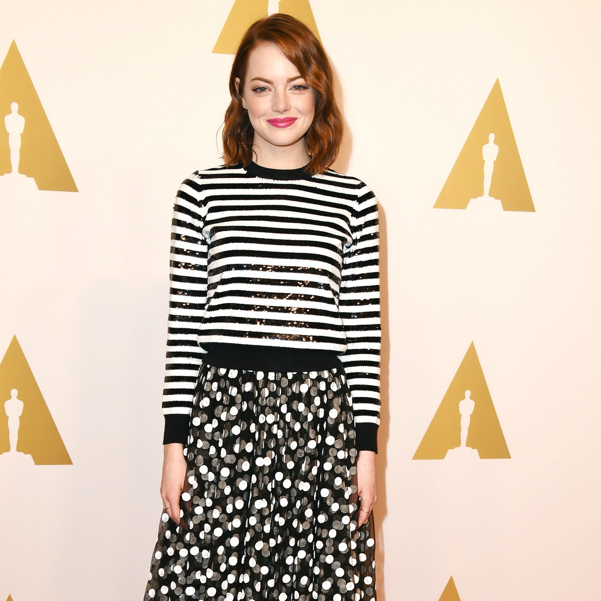 BEVERLY HILLS, CA - FEBRUARY 02:  Emma Stone arrives at the 87th Academy Awards Nominee Luncheon at The Beverly Hilton Hotel on February 2, 2015 in Beverly Hills, California.  (Photo by Steve Granitz/WireImage)