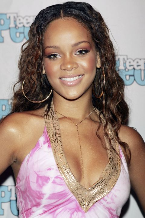 WEST HOLLYWOOD, CA - JULY 14:  Roc-A-Fella recording artist Rihanna is featured at the Teen People Listening Lounge hosted by Jay - Z at the Key Club on July 14, 2005 in West Hollywood, California. (Photo by Kevin Winter/Getty Images) *** Local Caption *** Rihanna