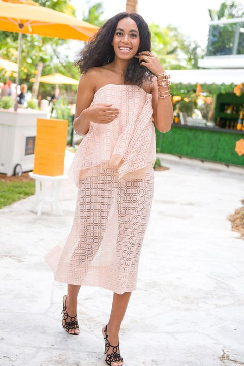 MIAMI BEACH, FL - FEBRUARY 07:  Singer Solange Knowles attends Clicquot Carnaval at Thompson Hotel Miami Beach on February 7, 2015 in Miami Beach, Florida.  (Photo by Sergi Alexander/Getty Images)