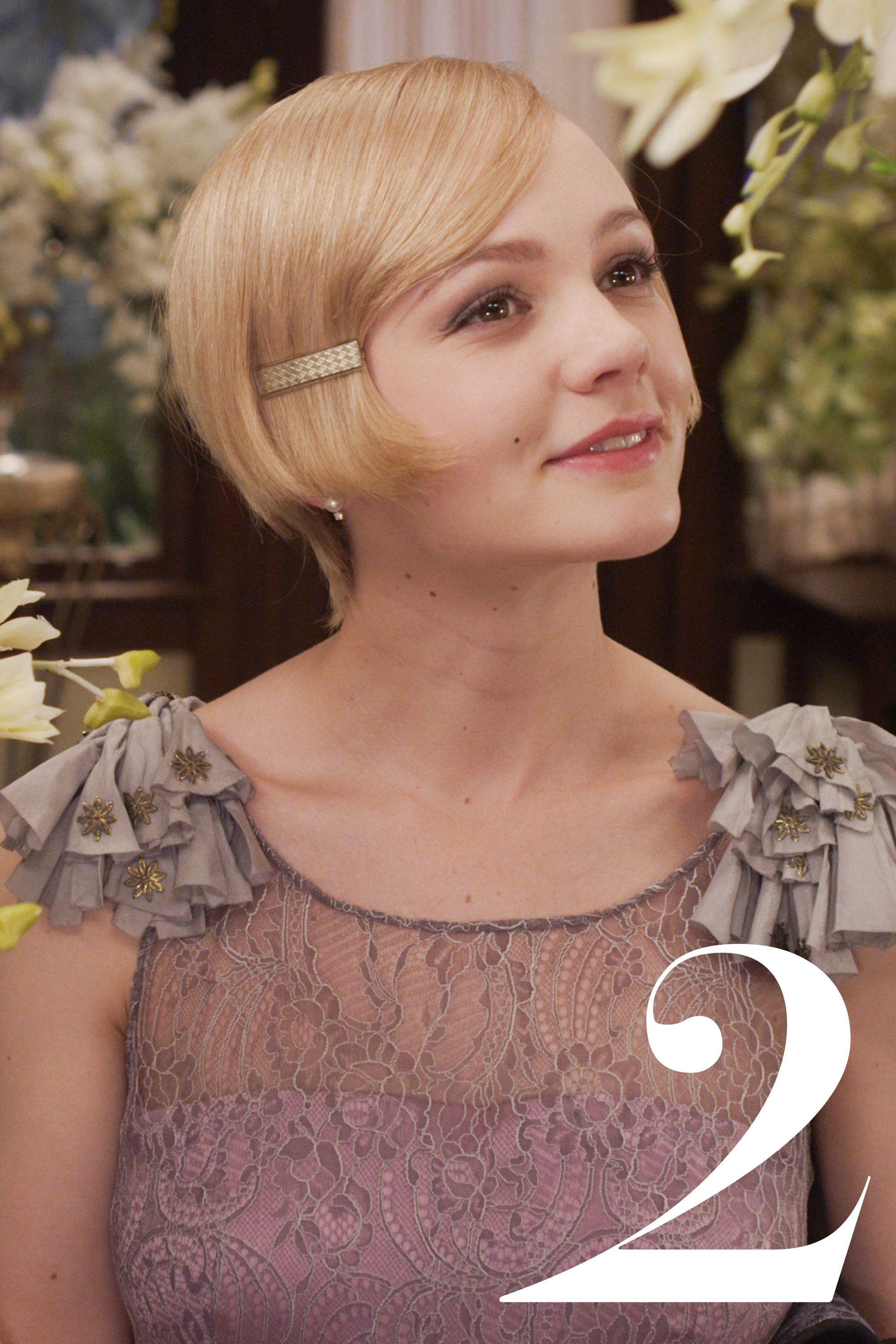 """CareyMulligan in <em>The Great Gatsby</em>  <strong>France Luxe</strong> Enamel Barrette, $24, <a href=""""http://shop.nordstrom.com/s/france-luxe-enamel-barrette/3503067?origin=category-personalizedsort&contextualcategoryid=0&fashionColor=CAMEL%2F+GOLD&resultback=1679"""">nordstrom.com</a>."""