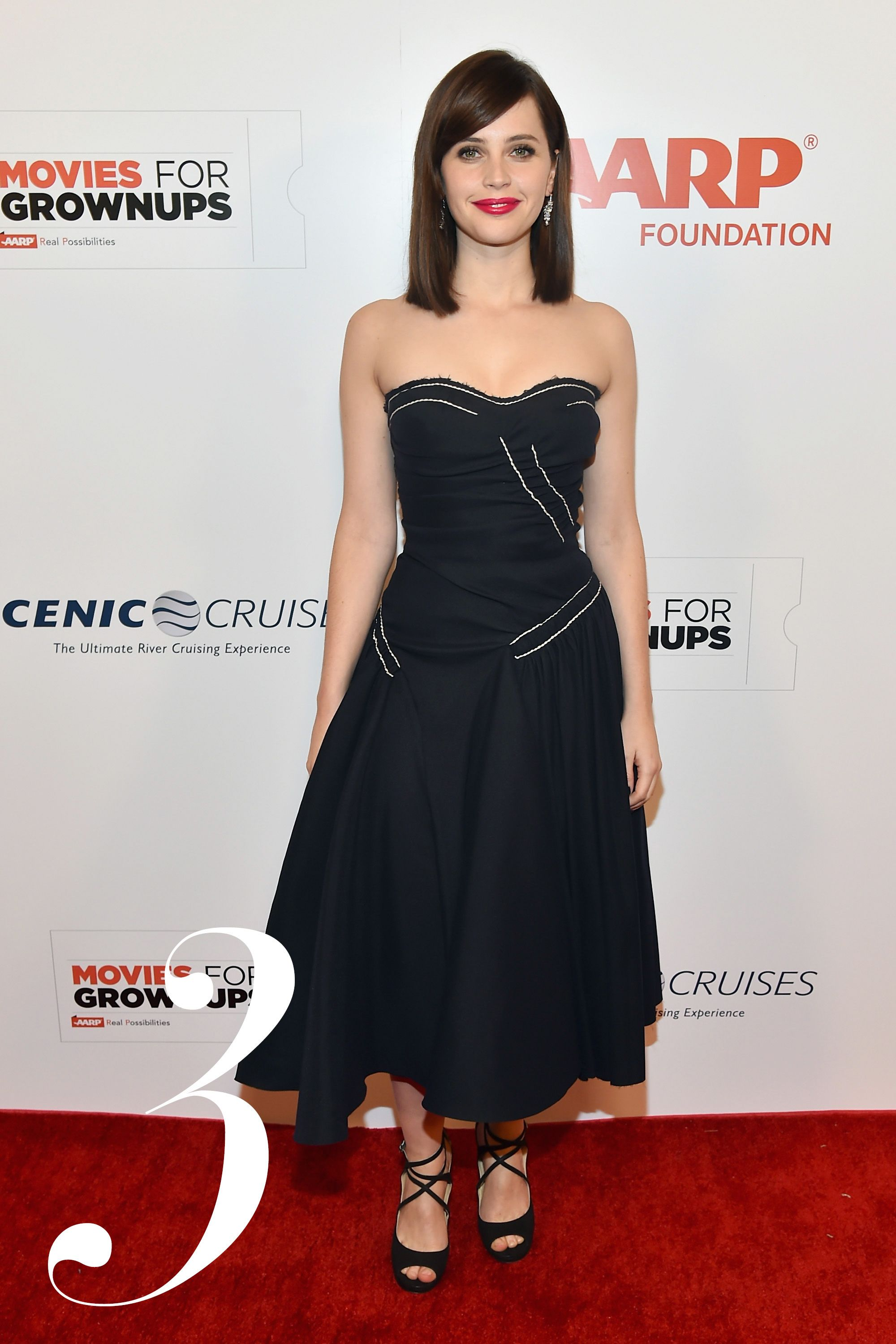 <strong>What: </strong>Prada  <strong>Where:</strong> AARP The Magazine's 14th Annual Movies For Grownups Awards Gala  <strong>Why:</strong> The newly announced star of the upcoming <em>Star Wars</em> spinoff made a stellar case for drapery.