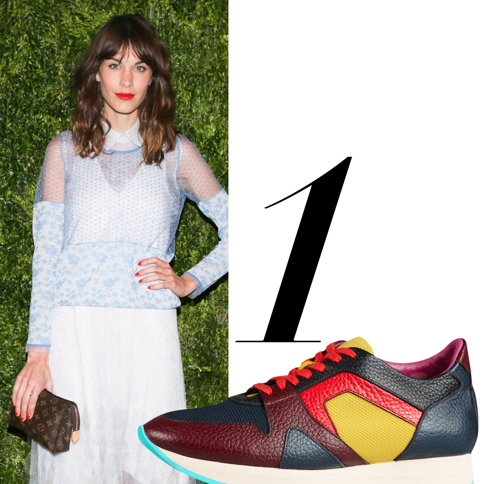 "<em>Burberry sneaker, $595, <a href=""http://us.burberry.com/the-field-sneaker-in-colour-block-leathermesh-p39732701"" target=""_blank"">burberry.com</a>.</em>"