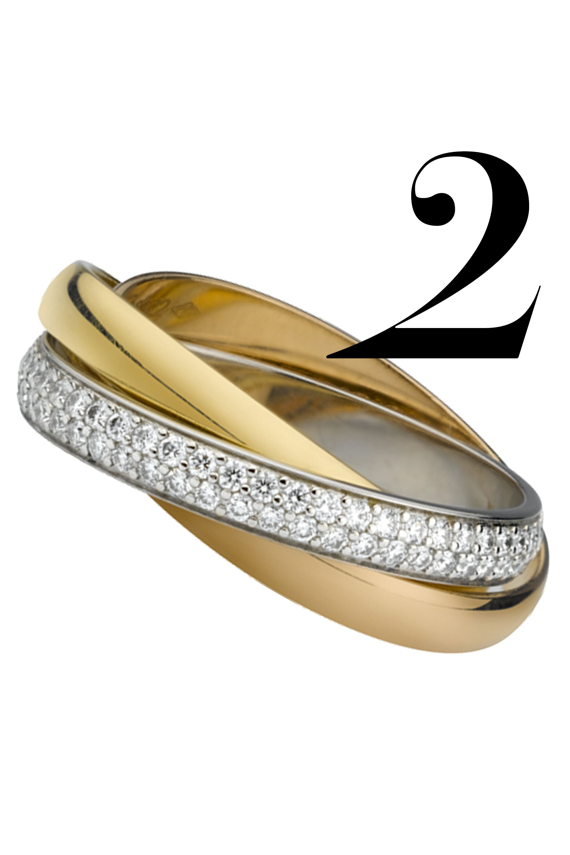 """Believe in the power of three—the pink band stands for love, yellow for fidelity and white for friendship—the perfect trifecta for a lifelong bond.<em></em><em>Cartier Trinity Ring, $6,800, <a href=""""http://bs.serving-sys.com/BurstingPipe/adServer.bs?cn=tf&amp&#x3B;c=20&amp&#x3B;mc=click&amp&#x3B;pli=12419142&amp&#x3B;PluID=0&amp&#x3B;ord=%n"""" target=""""_blank"""">cartier.us</a></em>"""