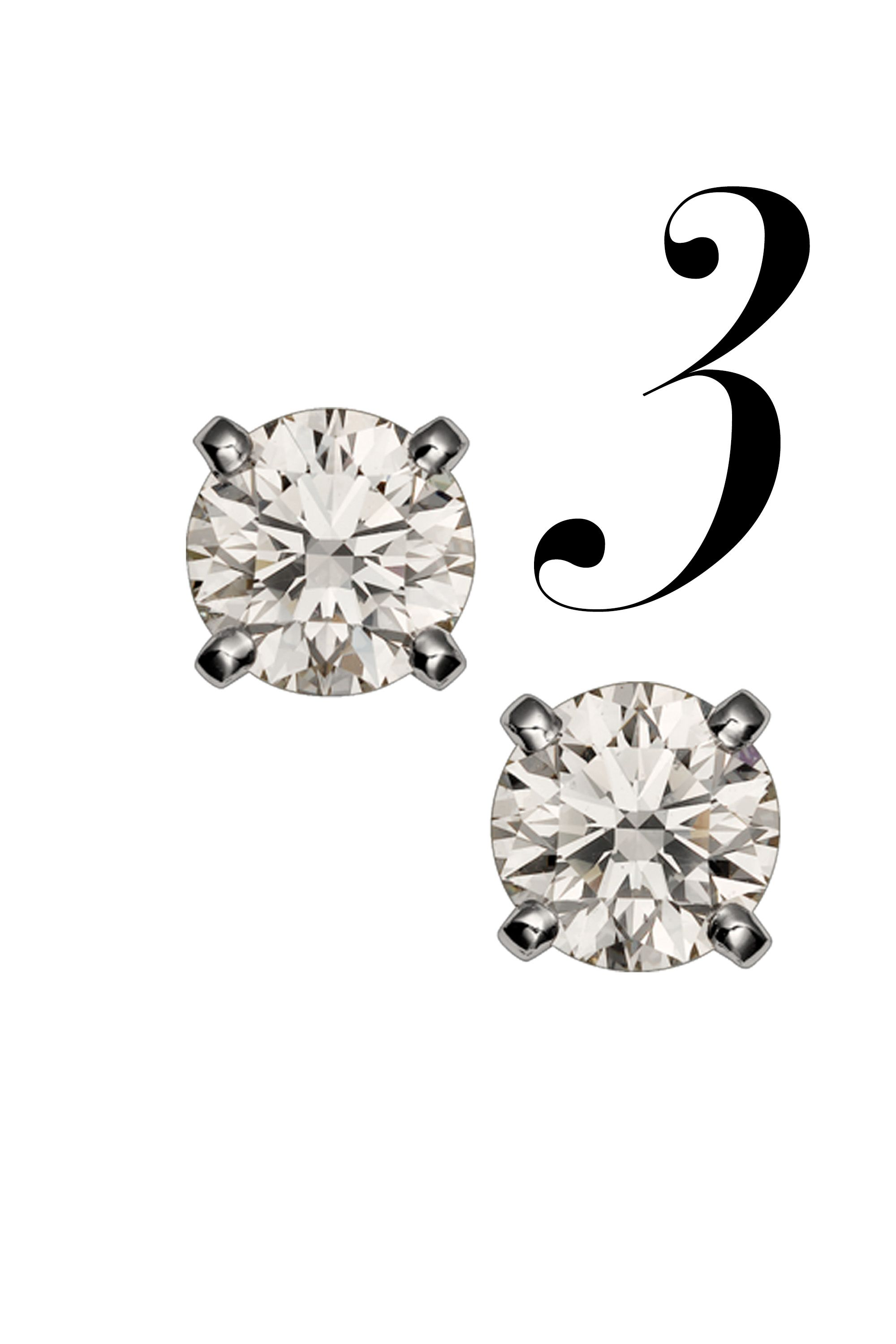 """Adorned in this striking pair of brilliant-cut solitaires, her future's a bright and beautiful one. (But you already knew that.)<em></em><em>Cartier 1895 Earrings, price upon request, 1-800-227-8437, <a href=""""http://bs.serving-sys.com/BurstingPipe/adServer.bs?cn=tf&amp&#x3B;c=20&amp&#x3B;mc=click&amp&#x3B;pli=12419161&amp&#x3B;PluID=0&amp&#x3B;ord=%n"""" target=""""_blank"""">cartier.us</a></em>"""