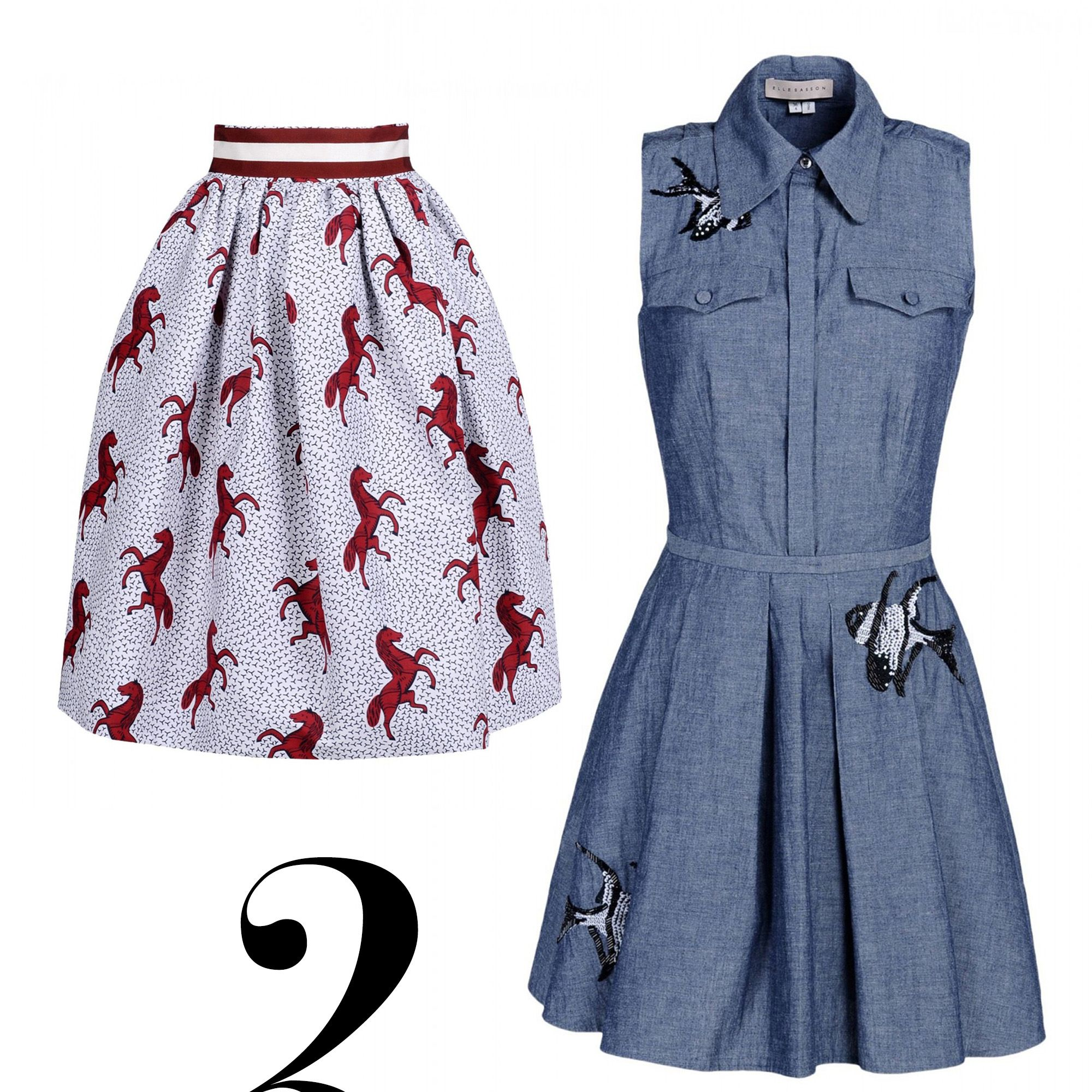 "<em>Stella Jean skirt, $770, <a href=""http://shop.harpersbazaar.com/designers/stella-jean/pipistrello-printed-skirt/"" target=""_blank"">shopBAZAAR.com</a>&#x3B; Elle Sasson dress, $590, <a href=""http://shop.harpersbazaar.com/designers/elle-sasson/gulper-dress-5/"" target=""_blank"">shopBAZAAR.com</a>&#x3B; Valentino bag, $4,445, <a href=""http://shop.harpersbazaar.com/designers/valentino/feather-mini-lock-shoulder-bag/"" target=""_blank"">shopBAZAAR.com</a>.</em>"