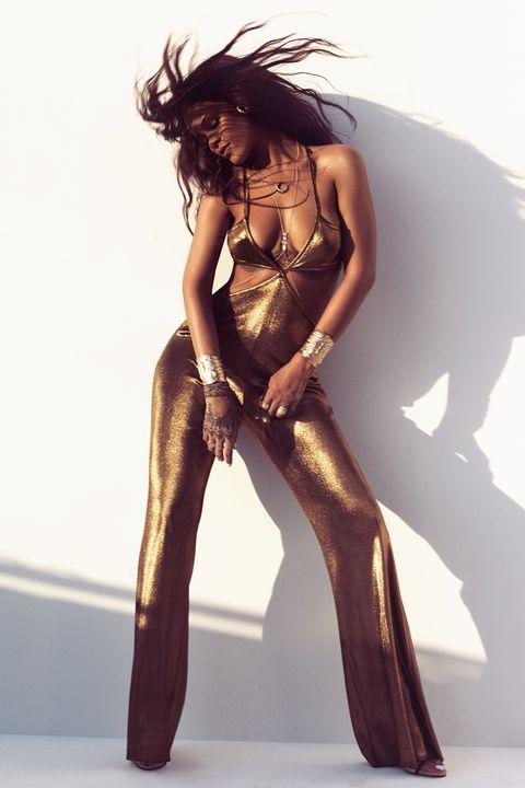 30fe5c8a6bb Rihanna Swims With Sharks in Fashion Shoot - Rihanna Talks Instagram ...