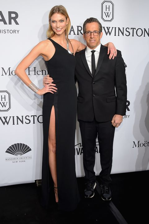 NEW YORK, NY - FEBRUARY 11:  Karlie Kloss and Kenneth Cole attend the 2015 amfAR New York Gala at Cipriani Wall Street on February 11, 2015 in New York City.  (Photo by Michael Loccisano/Getty Images)