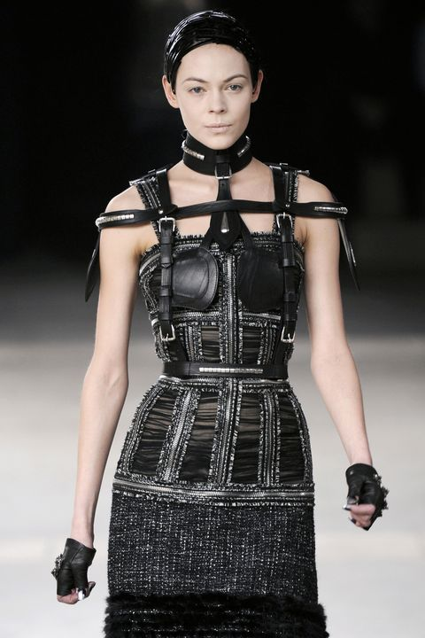 PARIS, FRANCE - MARCH 08:  A model walks the runway at the Alexander McQueen fashion show during Paris Fashion Week on March 8, 2011 in Paris, France.  (Photo by Karl Prouse/Catwalking/Getty Images)
