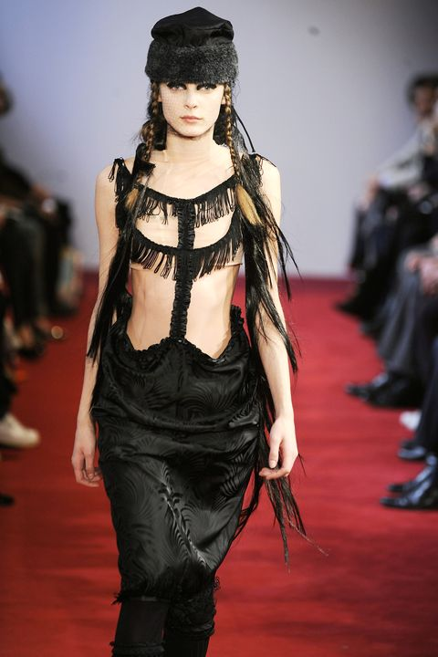 PARIS - FEBRUARY 26:  (UK OUT) A model walks the runway wearing the Comme des Garcons Fall/Winter 2008/2009 collection during Paris Fashion Week on the 26th of February 2008 in Paris,France.  (Photo by Chris Moore/Catwalking/Getty Images)