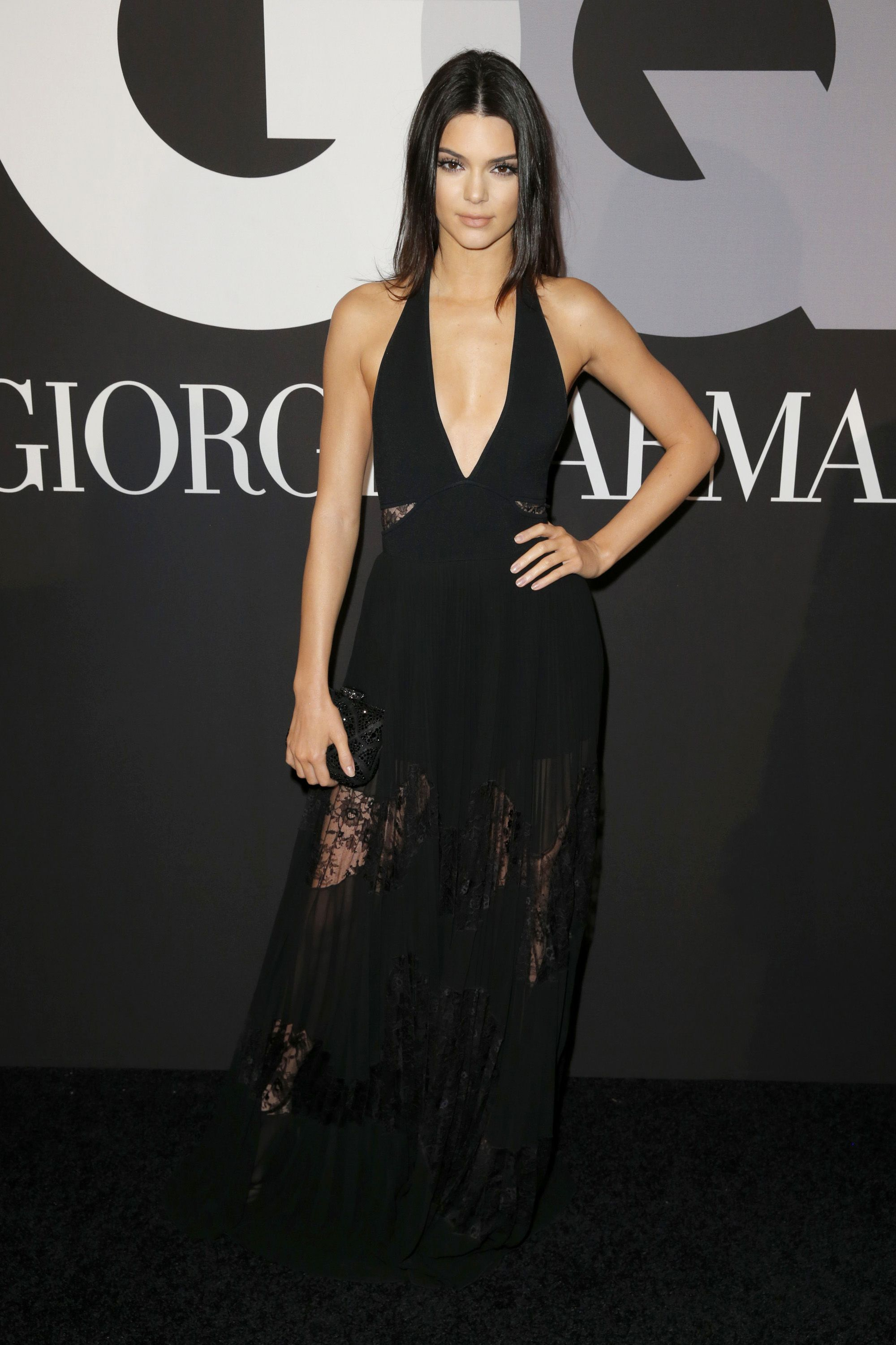 HOLLYWOOD, CA - FEBRUARY 08:  TV personality Kendall Jenner attends GQ and Giorgio Armani Grammys After Party at Hollywood Athletic Club on February 8, 2015 in Hollywood, California.  (Photo by Joe Scarnici/Getty Images for GQ)
