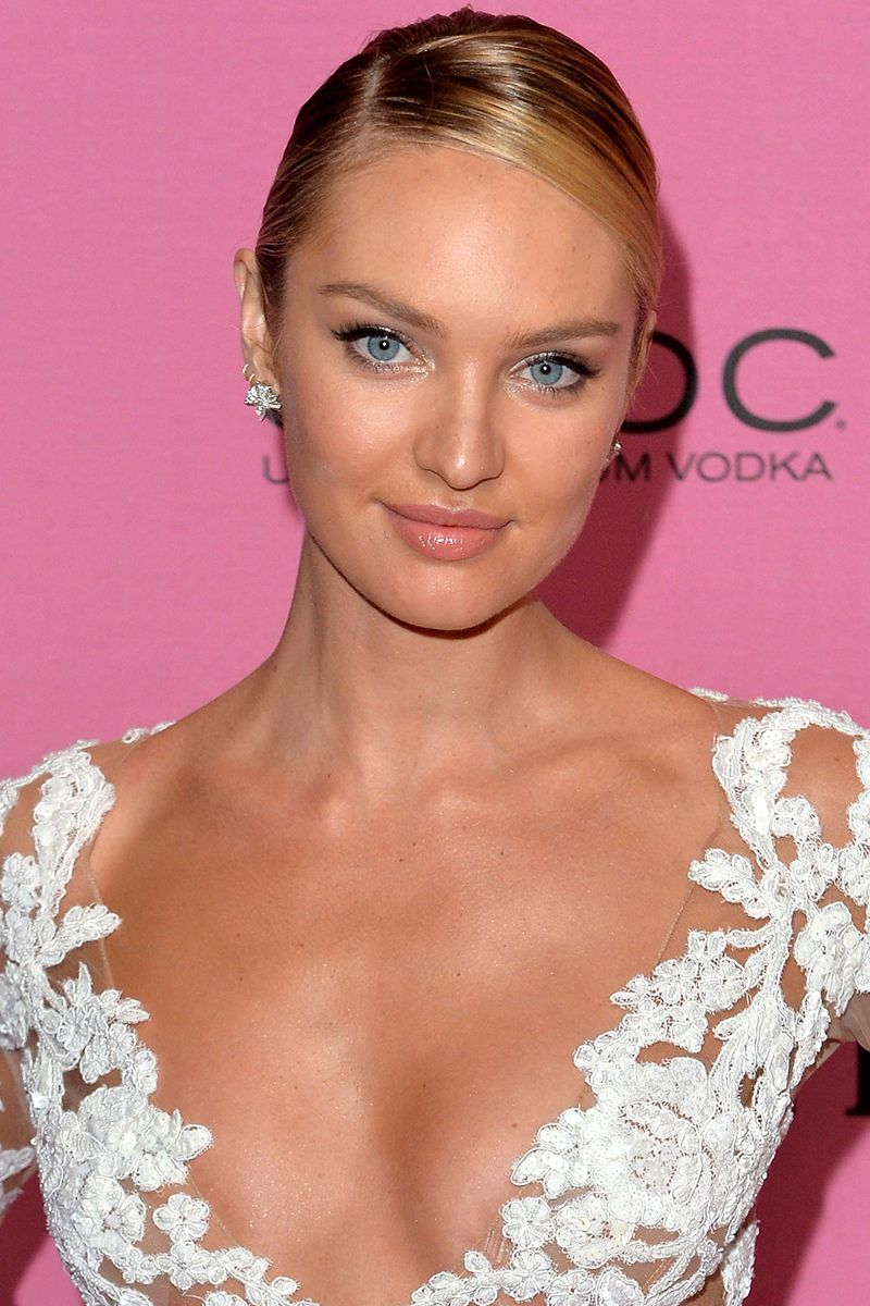 LONDON, ENGLAND - DECEMBER 02:  Candice Swanepoel attends the pink carpet of the 2014 Victoria's Secret Fashion Show on December 2, 2014 in London, England.  (Photo by Anthony Harvey/Getty Images for Victoria's Secret)
