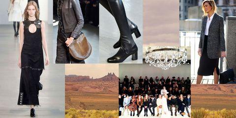 Fashion, Leather, Bag, Street fashion, Prairie, Boot, Collage, Dress shoe, Fashion design, Shoulder bag,