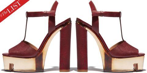 Footwear, Brown, High heels, Red, Sandal, Tan, Fashion, Carmine, Basic pump, Maroon,