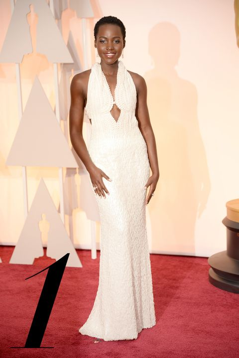 HOLLYWOOD, CA - FEBRUARY 22:  Actress Lupita Nyong'o attends the 87th Annual Academy Awards at Hollywood & Highland Center on February 22, 2015 in Hollywood, California.  (Photo by Kevin Mazur/WireImage)