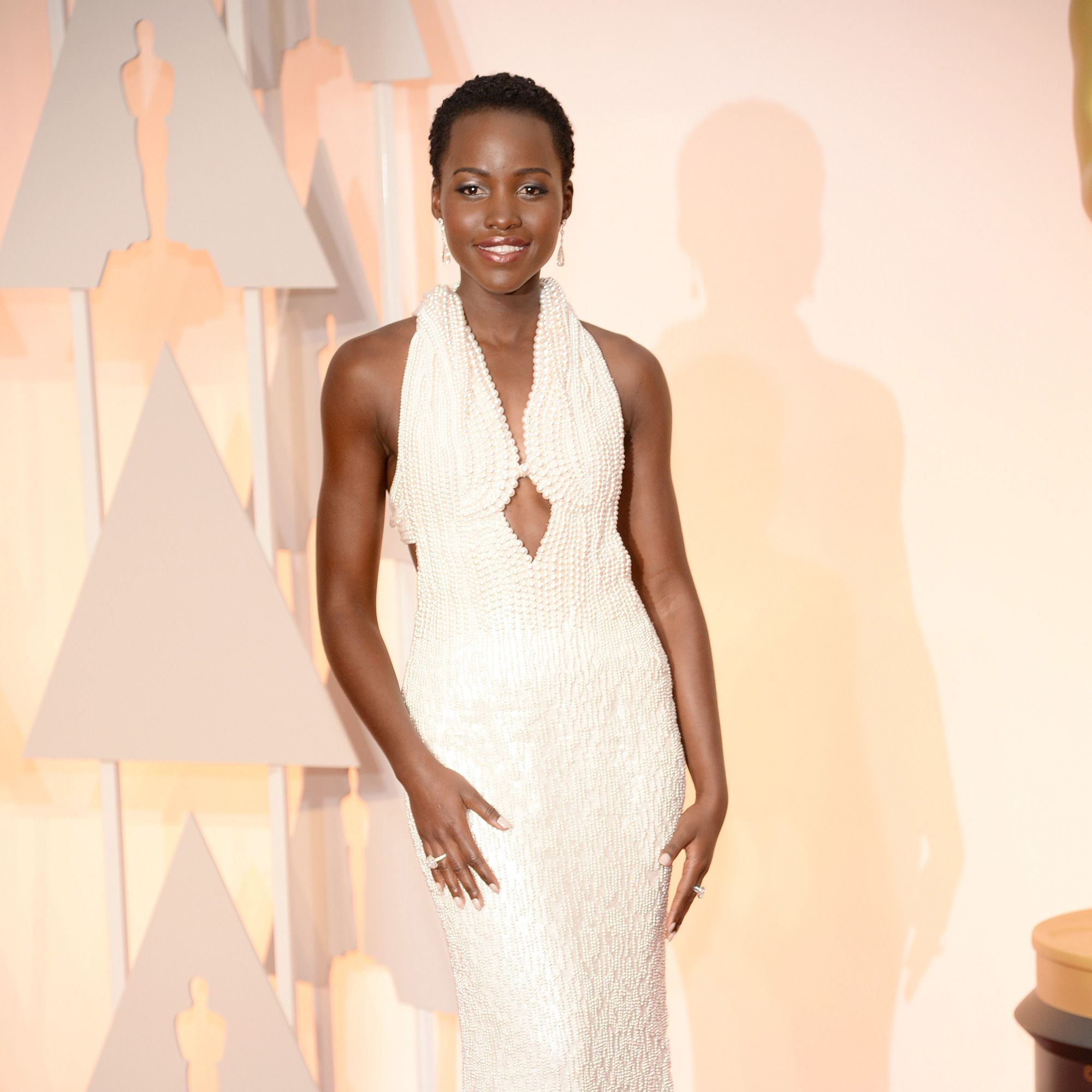 HOLLYWOOD, CA - FEBRUARY 22:  Actress Lupita Nyong'o attends the 87th Annual Academy Awards at Hollywood &amp&#x3B; Highland Center on February 22, 2015 in Hollywood, California.  (Photo by Kevin Mazur/WireImage)