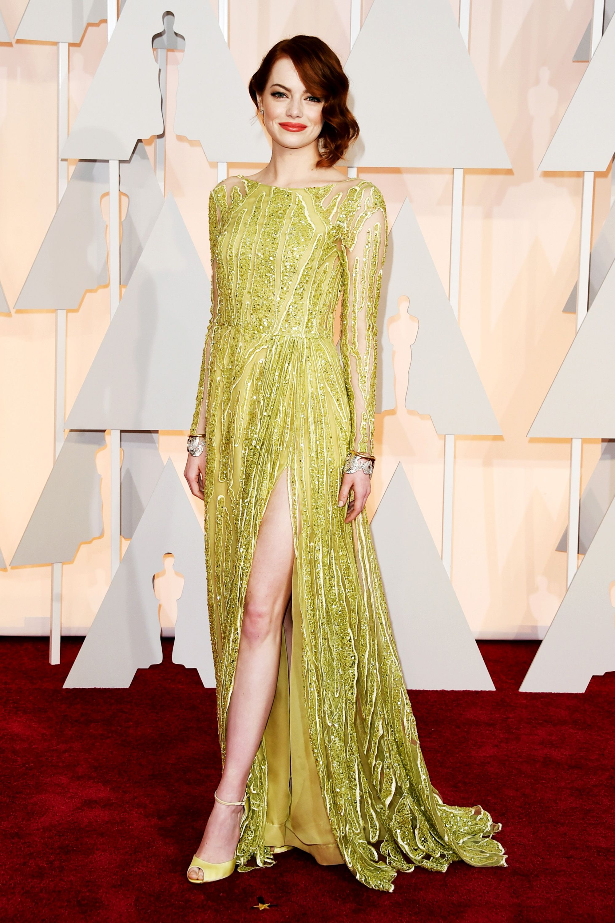 HOLLYWOOD, CA - FEBRUARY 22:  Emma Stone attends the 87th Annual Academy Awards at Hollywood & Highland Center on February 22, 2015 in Hollywood, California.  (Photo by Jason Merritt/Getty Images)